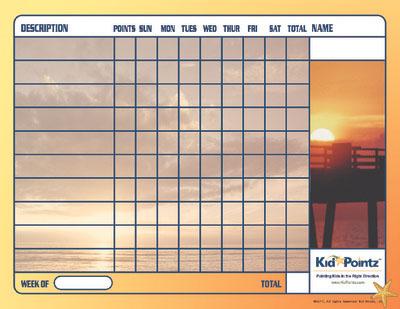 Behavior Chart: Beach Theme