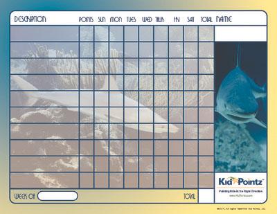 Printable Chart: Sharks Theme