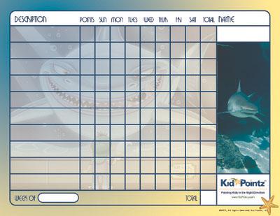 Kids Chart: Sharks Theme