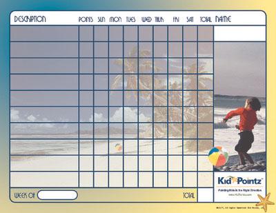 Behavior Charts:  Beach Themes
