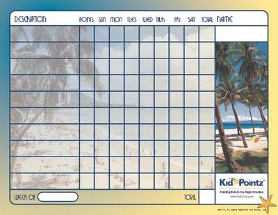Kids Chart: Beach Theme