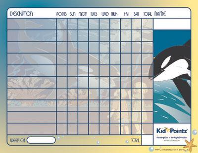 Printable Chart: Whales Theme