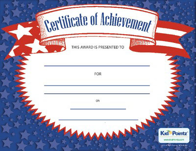 Free Achievement Award Certificates for Kids – Certificate of Achievement for Kids