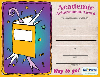 Achievement Certificates Are A Great Way To Let Your Child Know You  Appreciate Their Efforts In The Classroom. Kids Work Hard To Get Good  Grades At School.  Free Achievement Certificates