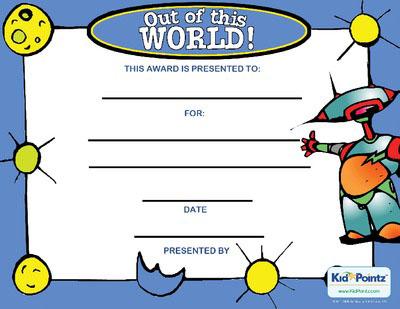 Behavior Award Certificate