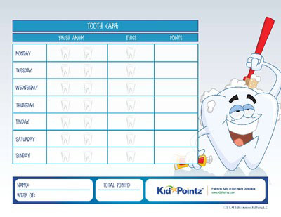 Brushing And Flossing Teeth Charts For Kids | Kid Pointz