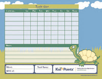 Pet Care Chart for Turtle