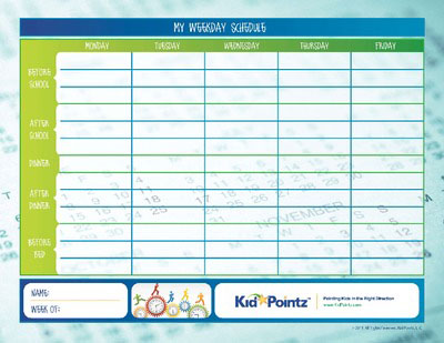 Kids Daily Routine Charts for Week | Kid Pointz