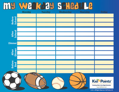 Kids Chart for Routines | Kid Pointz