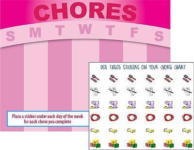 Childrens Charts – Chore Stickers Design