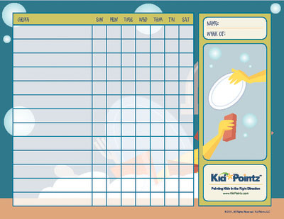 Child Printable Chore Chart