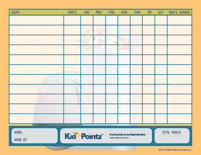 Chore Schedule | Printable Chore Chart | Kid Pointz