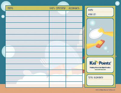 Chore Schedules: Allowance