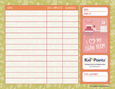 photo about Printable Allowance Chore Chart identify Chore Charts for Children Allowance Child Pointz