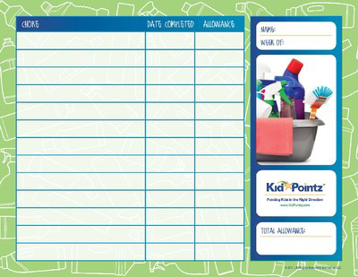 photograph relating to Printable Allowance Chore Chart identify Chore Charts for Young children Allowance Youngster Pointz