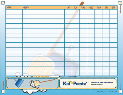 Chore Charts For Kids  Multiple Kids  Kid Pointz