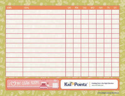 Chore Charts For Kids | Multiple Kids | Kid Pointz