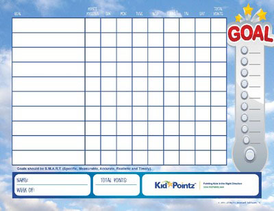 graphic regarding Printable Goal Chart identified as Children Purpose Charts with Facts Positive aspects Child Pointz