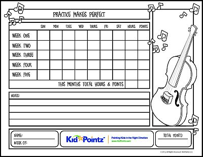 photograph about Music Practice Chart Printable Free known as Audio Teach Charts Little one Pointz
