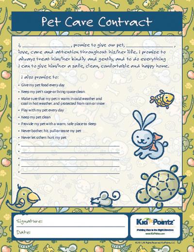 Behavior Contracts for Kids | Improve Behavior | Kid Pointz