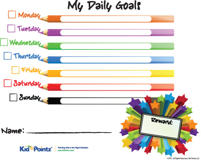 Motivate Your Kids To Do Their Household Chores And Homework, Or Simply To  Meet Your Behavioral Goals For Them, By Displaying Your Daily Expectations  On ...  Free Printable Reward Charts For Kids