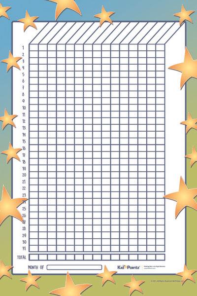 Free Kids Star Chart - Multiple Kids