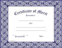 Certificates and Awards: Merit