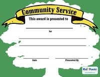 Free community service award certificates kid pointz service award template yadclub Image collections