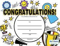 Printable Congratulations Award