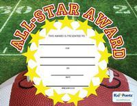All-Star Award Certificate