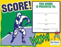 Hockey Award Certificate