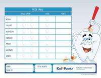 Brushing Teeth  Daily Routine Chart Template