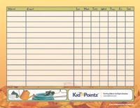 Children Chore Chart with Rewards
