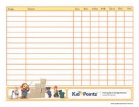 Chore Charts: Family Schedules