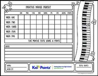 Music Practice Charts  Kids Behavior Chart Template