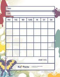 Printable Behavior Charts – Chore Charts for Kids | Kid Pointz