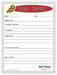 Science Journal Worksheet